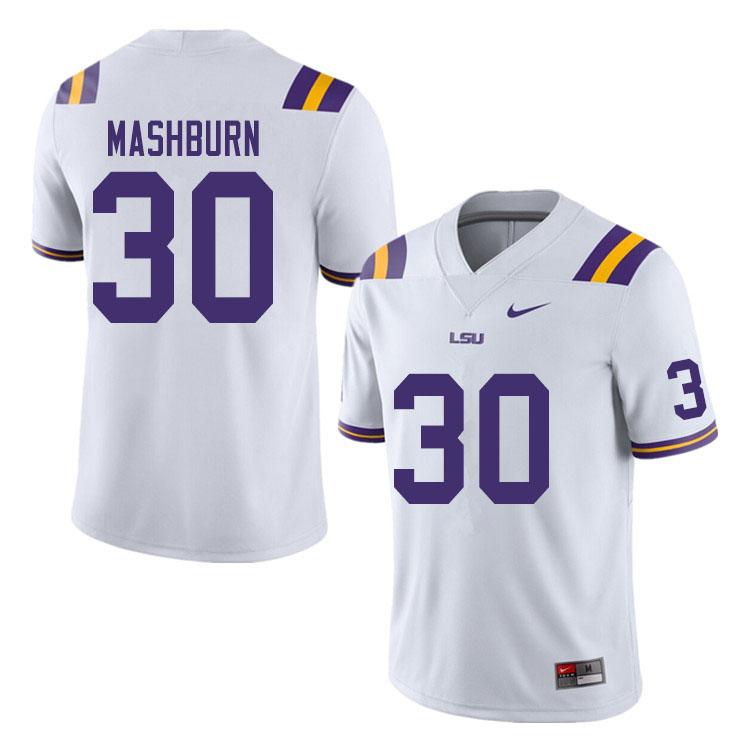Men 30 Jack Mashburn Lsu Tigers College Football Jerseys Sale White College Football Lsu Football Lsu