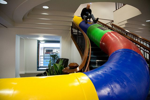 google san francisco office tour collaborative everyone office should have one indoor slide at google san francisco dalani home living uk google clubhouse pinterest slides
