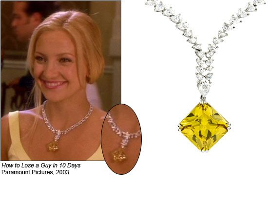 How To Lose A Guy In 10 Days 2003 Amazing Jewelry Yellow Diamond Kate Hudson