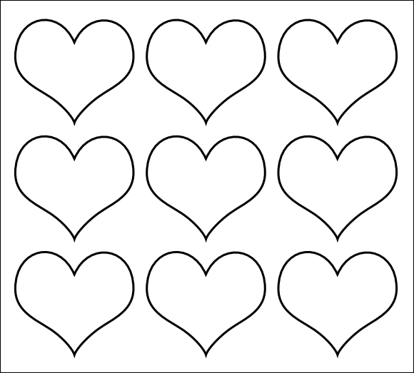 HeartTemplateCutOut  Fun For Children    Heart