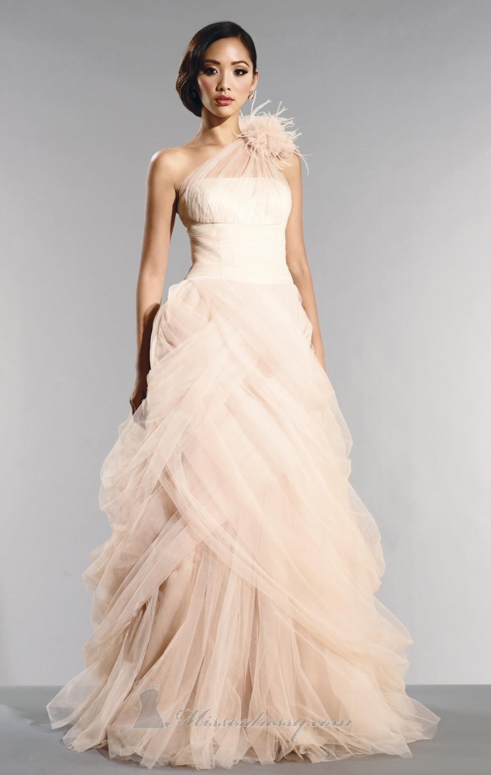 Fluffy wedding dresses  Dresses From the s  The girly look pair with a sof t  neutral