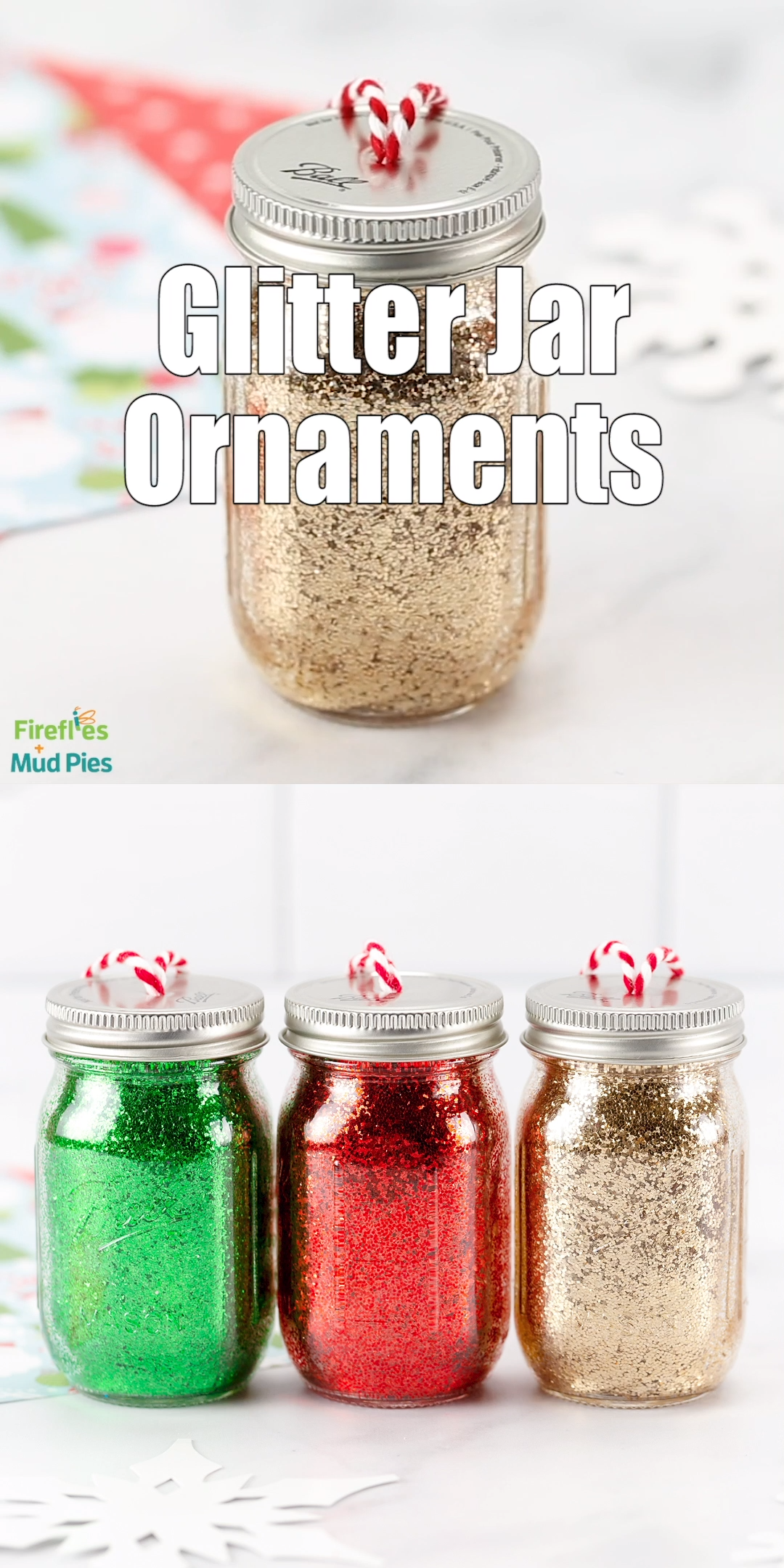 Photo of Glitter Jar Ornaments