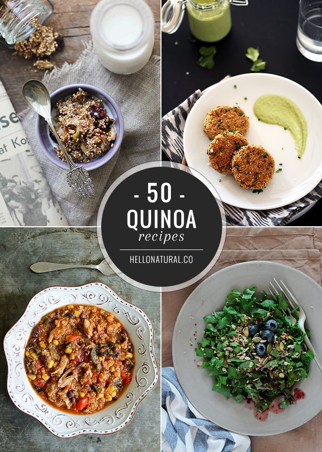 50 Healthy Quinoa Recipes -  Not sure how to incorporate this superfood into your daily diet? Here