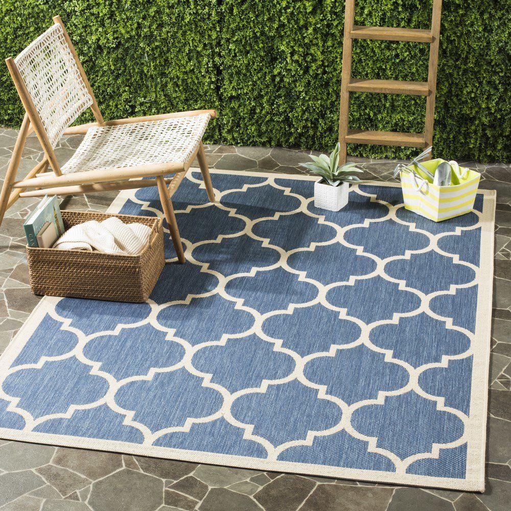 Vanessa Blue Beige Outdoor Area Rug Products Outdoor
