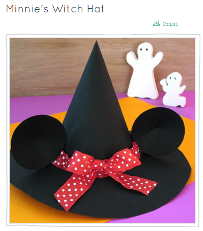 Minnie Witches Hat- template