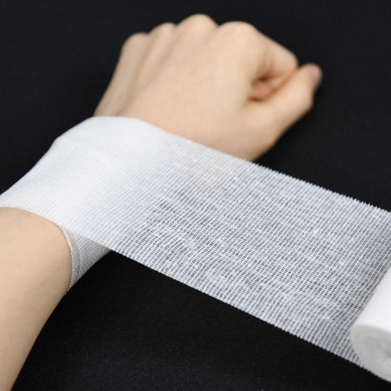 10Rolls/Lot 8cm*600cm Cotton Bandage First Aid Kit Gauze