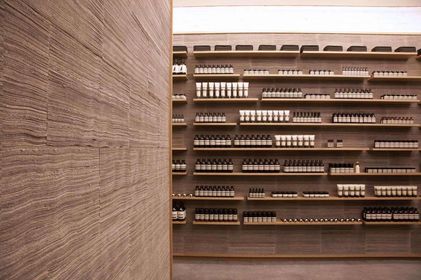 Aesop University Place Boutique NY. Designed by Jeremy Barbour of Tacklebox with direction from Aesop creative