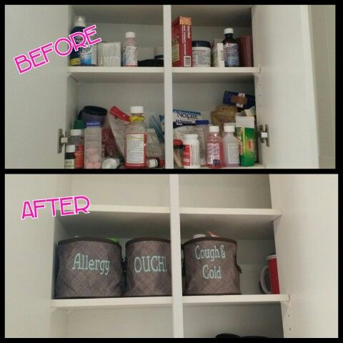 Medicine Cabinet Organization With Thirty One Oh Snap Bins