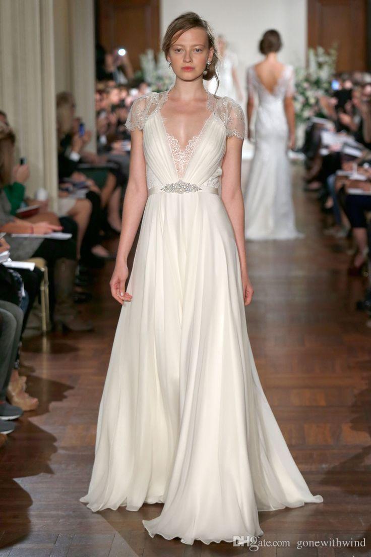 Beach wedding dresses plus size  Wedding Dresses  Jenny Packham Shimmering Vintage Glamour Plus