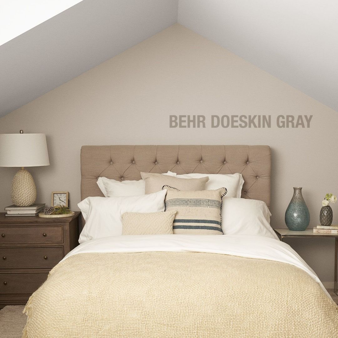 behr premium plus 1 gal n200 2 doeskin gray flat low on most popular paint colors for inside home id=50180