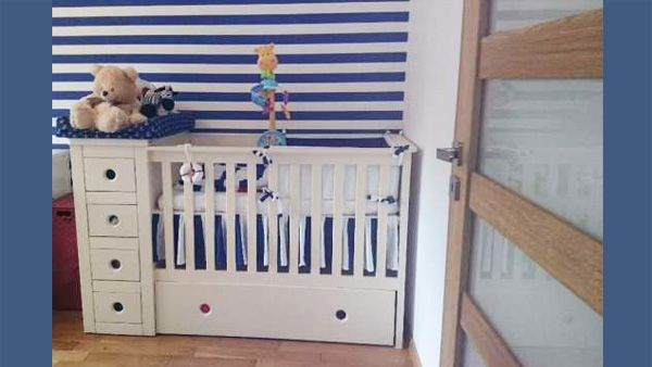 combo cot bed in marine baby s room buy at http funique co uk
