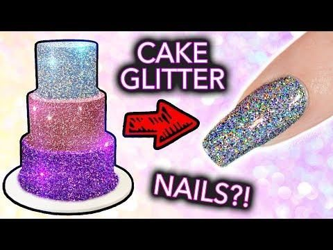 Putting Cake Glitter On Nails Edible Diamond Cuccino Exposed
