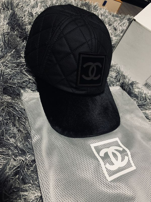 Chanel Quilted Logo pony hair cap for Sale in Boston, MA