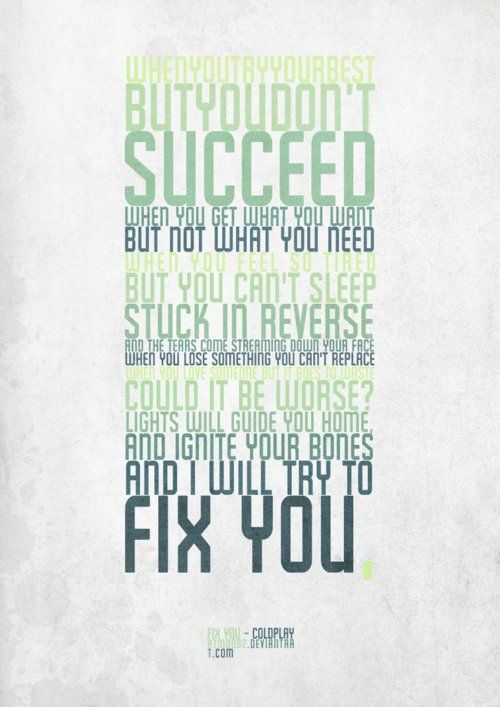 Fix You, Coldplay, one of my most favorite songs in this