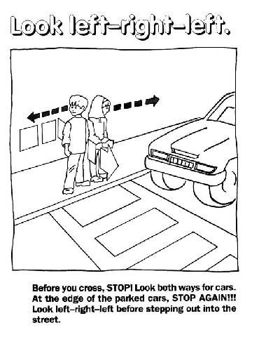 Street Safety Coloring Pages   Teaching   Pinterest   School