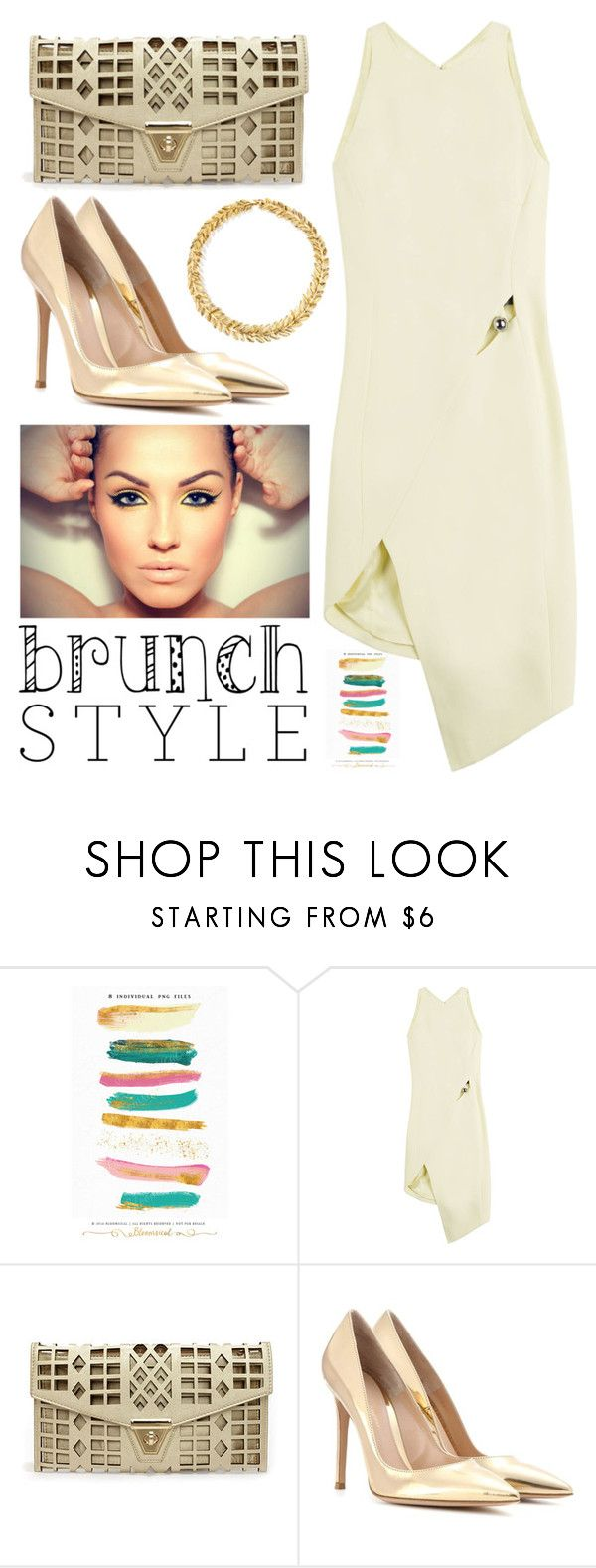 """""""Brunch Style"""" by cherieaustin ❤ liked on Polyvore featuring Brush Strokes, Thierry Mugler and Gianvito Rossi"""