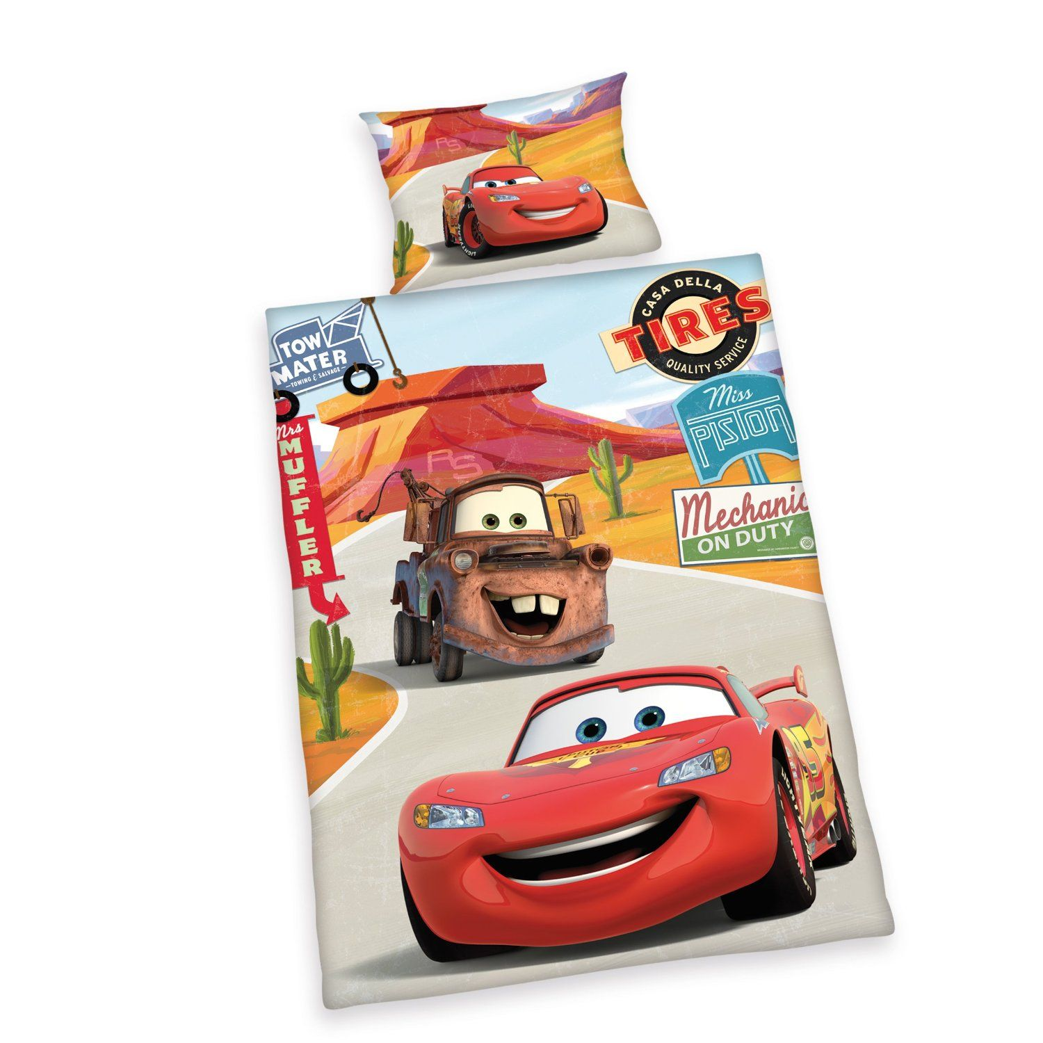 Disney Bettwäsche 100x135 Herding 2429060063412 Bedding Disney S Cars Pillowcase 40 X 60 Cm
