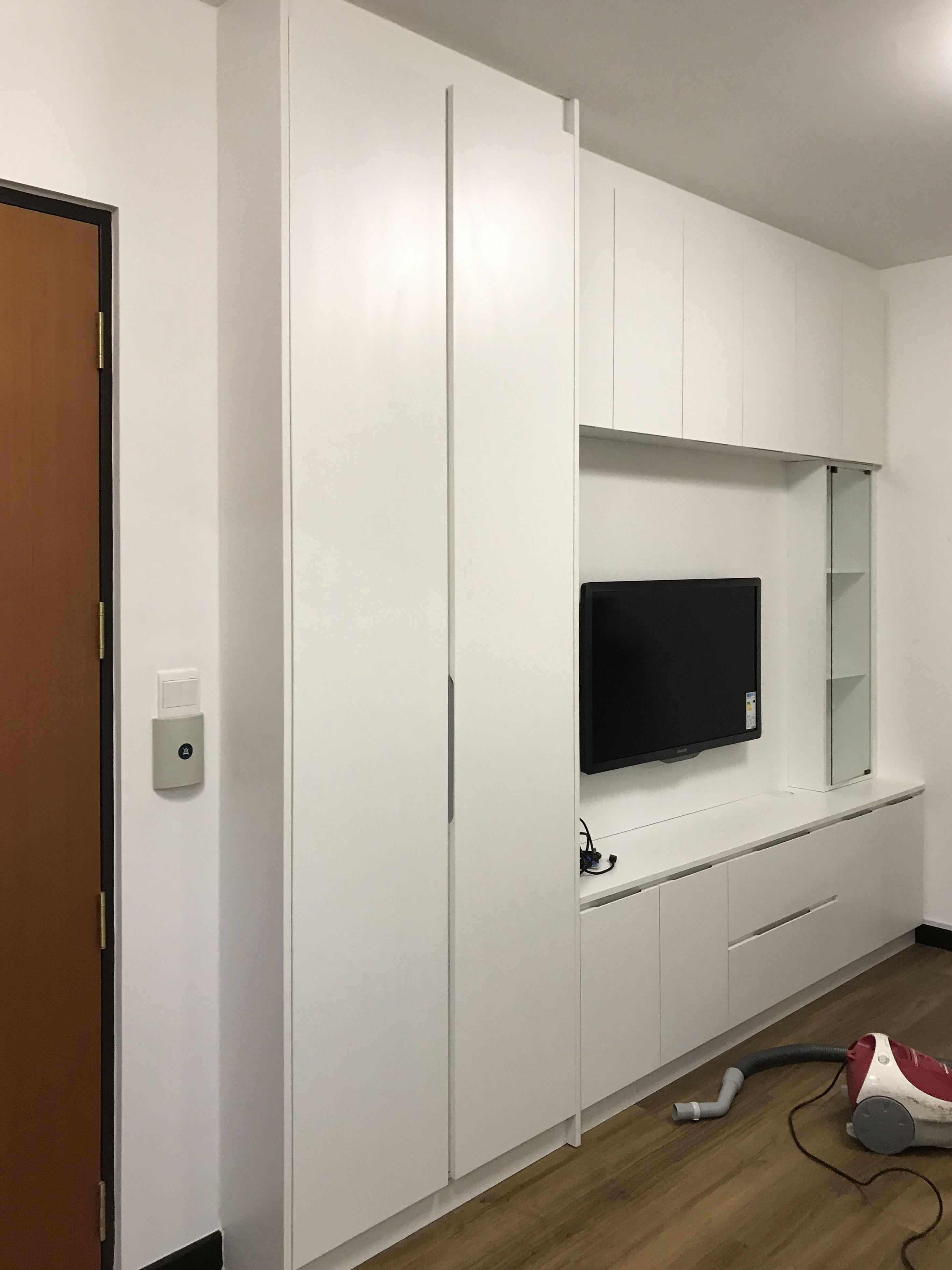 Full Height Storage Material Melamine Board Tall Cabinet Storage Furniture Design Storage