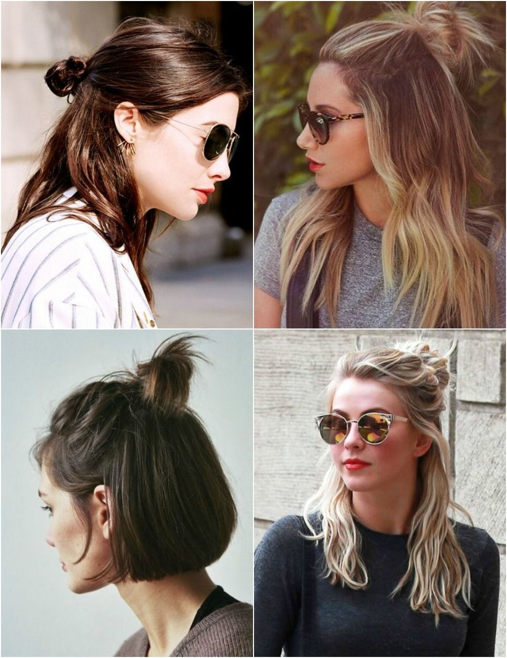 hair buns, top knot, half up half down, half bun | a | pinterest