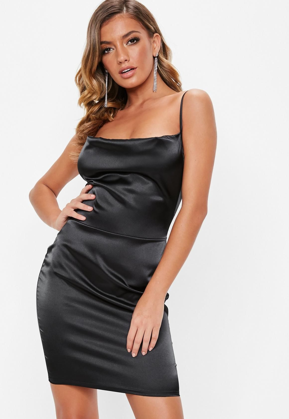 Friendly Seductive Sequined Glitter Cocktail Party Midi Dress Women Sexy Deep V Neck Low Back Crossover Straps Bodycon Draped Neckline Cocktail Dresses