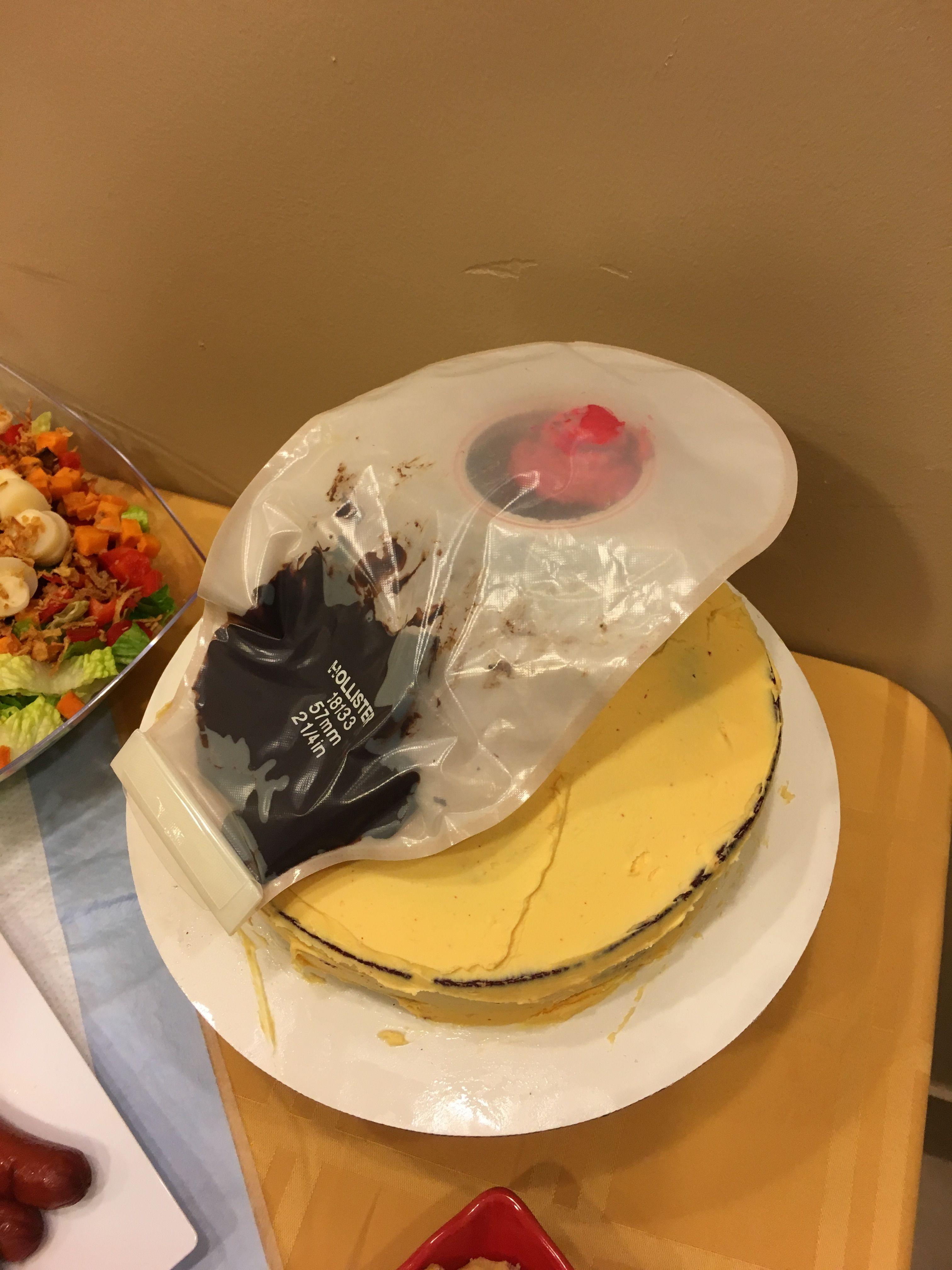 Ileostomy Bag Cake Stoma Party Guout Good Bye Makeit Ingitout Whosafraidtotkabout
