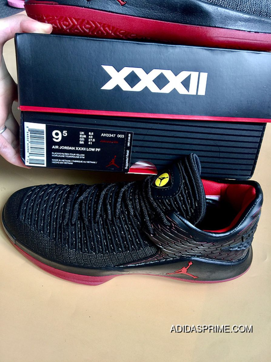 e774a56c8788 Air Jordan 32 Low Black And Red Low Last Shot Super Deals