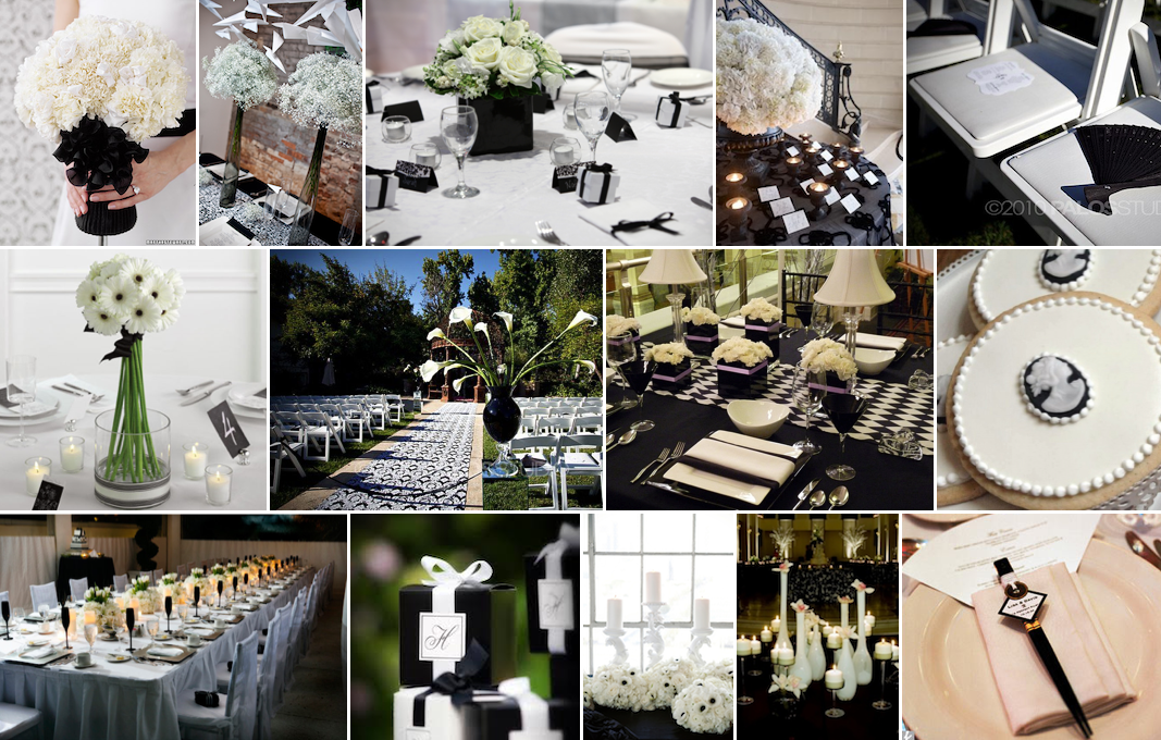 Add A Pop Of Color To Traditional Black And White Wedding Decor Greensboro Planning