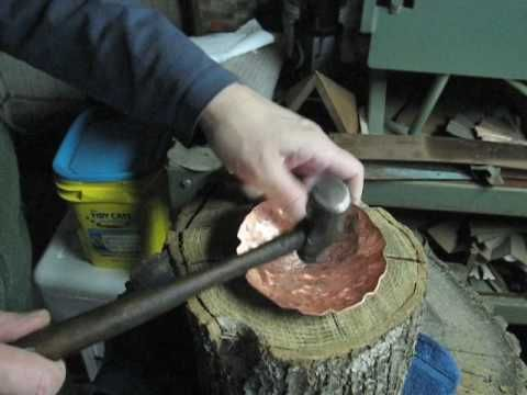 Forming Copper Bowls From Sheet Metal By Hand Copper