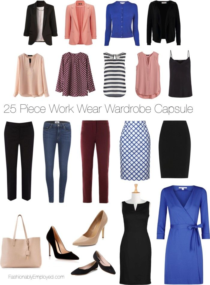 fashionablyemployed  25 piece wrok wear wardrobe