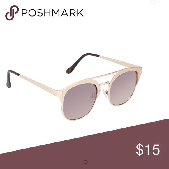 Sunglasses metal gold frame Worn once. Like new Aldo Accessories Sunglasses