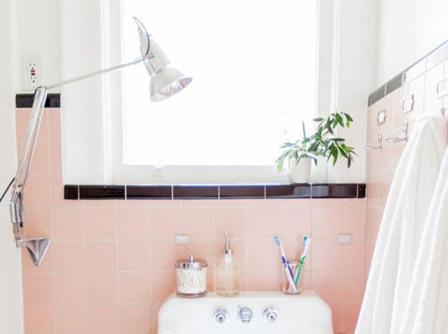 15 idées déco pour une jolie salle de bains | Salle de bain rose ...