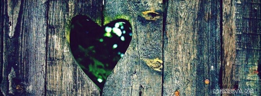 wooden heart fence cool facebook timeline covers.wooden heart fence cool facebook timeline banner.