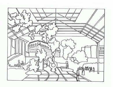 Coloring Pages Train Station Coloring Page