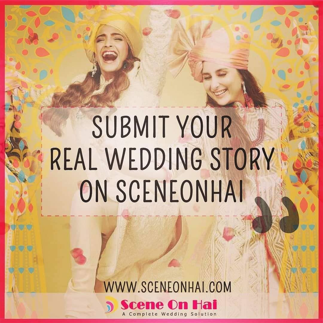 Submit Your Real Wedding Story On Sceneonhai.com