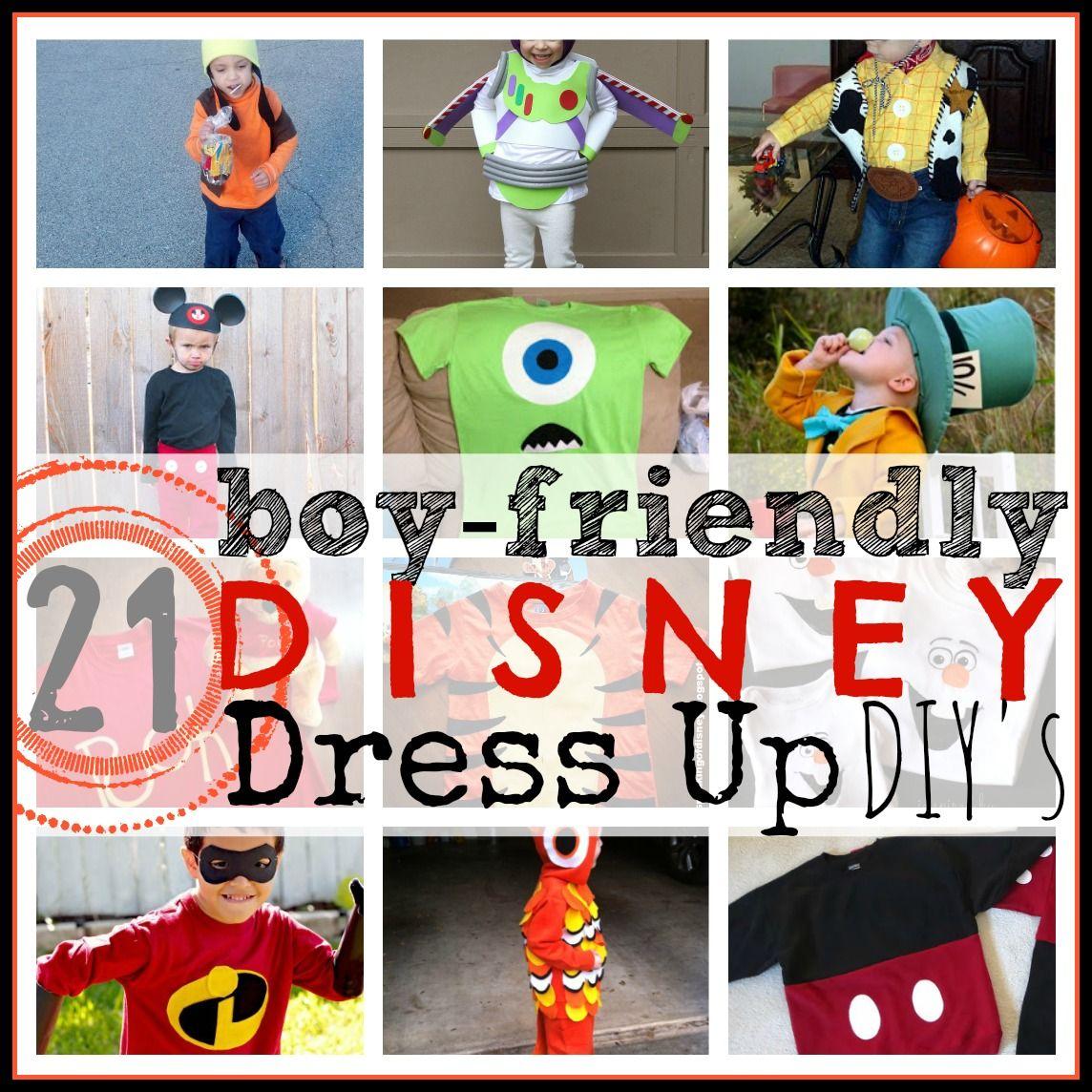 Disney Dress Up Clothes for Boys!