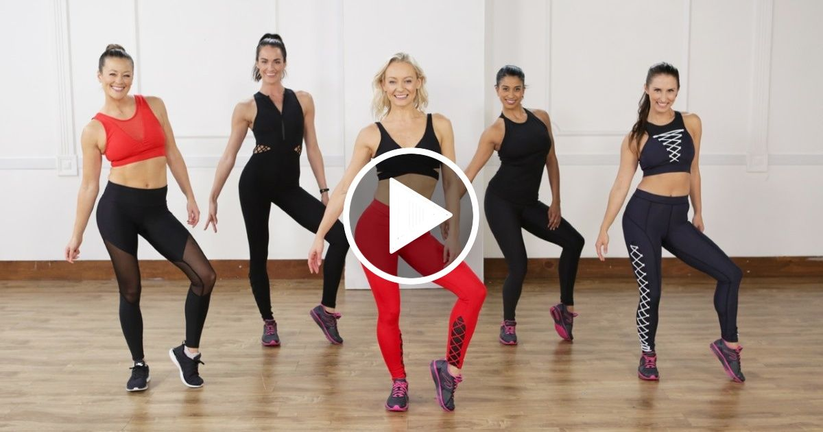 45-Minute Cardio Dance and Toning Workout Mashup #cardioworkouts