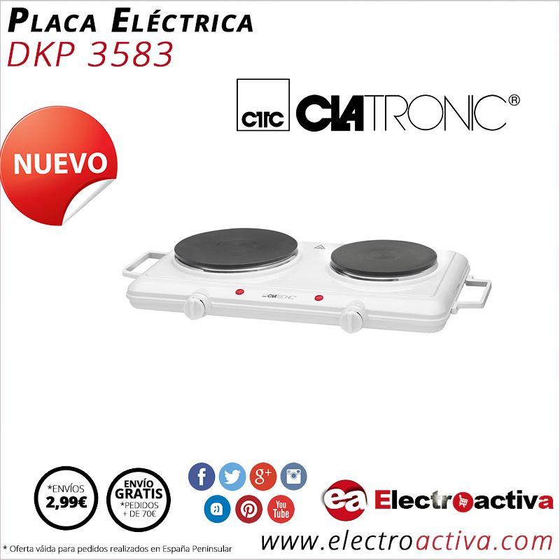 ¡Práctica y de fácil uso! Placa Eléctrica doble CLATRONIC DKP 3583 http://www.electroactiva.com/clatronic-placa-electrica-doble-dkp-3583.html #Elmejorprecio #Placaelectrica #Electronica #PymesUnidas