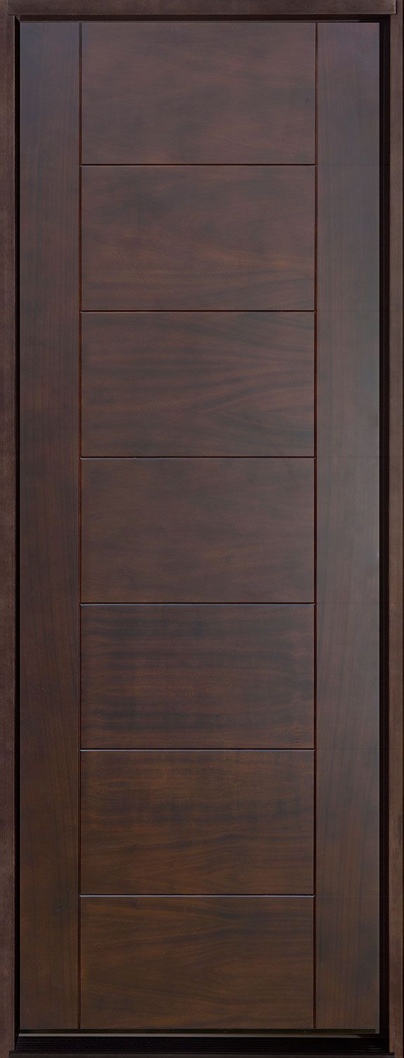 Modern Mahogany Bedroom Furniture: Contemporary Series Mahogany Solid Wood Front Entry Door