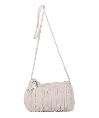 Take a look at this Taupe Rainforest Slinky Crossbody Bag by Make Love Not Trash on #zulily today!