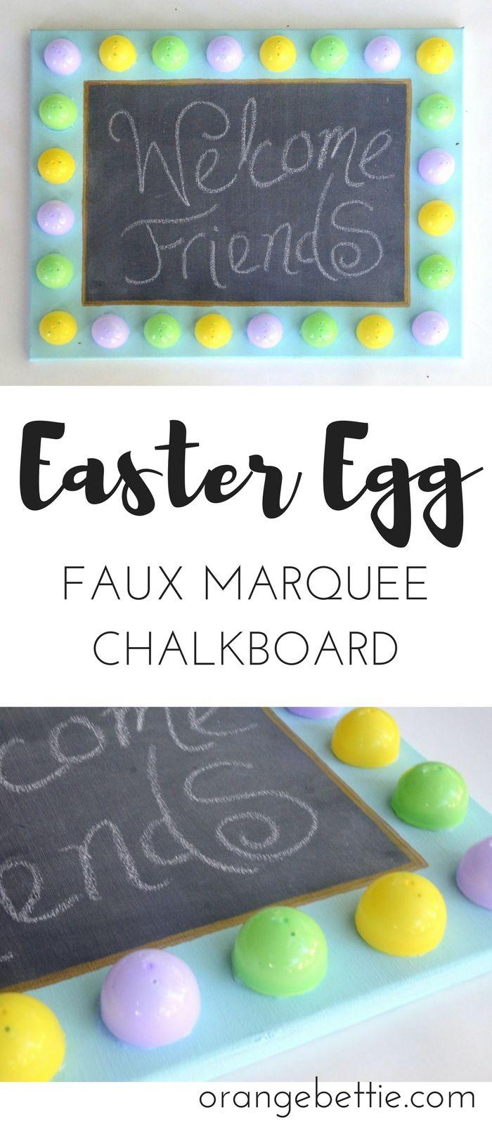 DIY Easter egg faux marquee chalkboard tutorial – Orange Bettie