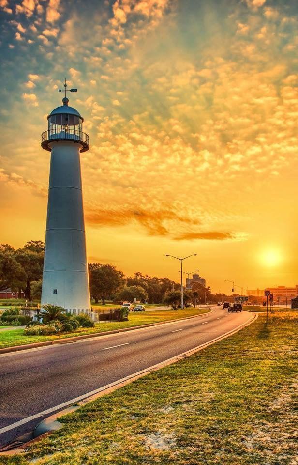 Beautiful Biloxi Sunset Biloxi Lighthouse Biloxi Spires
