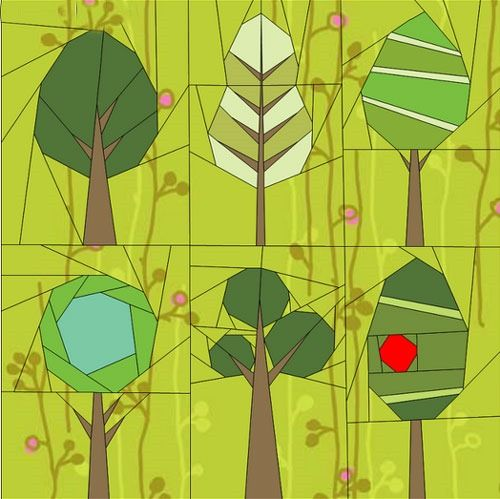 Paper piecing quilt patterns animals flowers and trees quilt link with tons of paper piecing quilt patterns animals and flowers some of them mightylinksfo