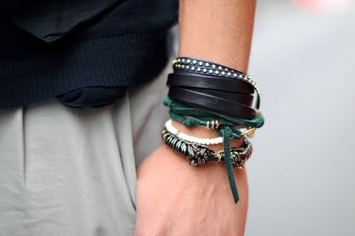 i want the plain black leather one and the green one underneath