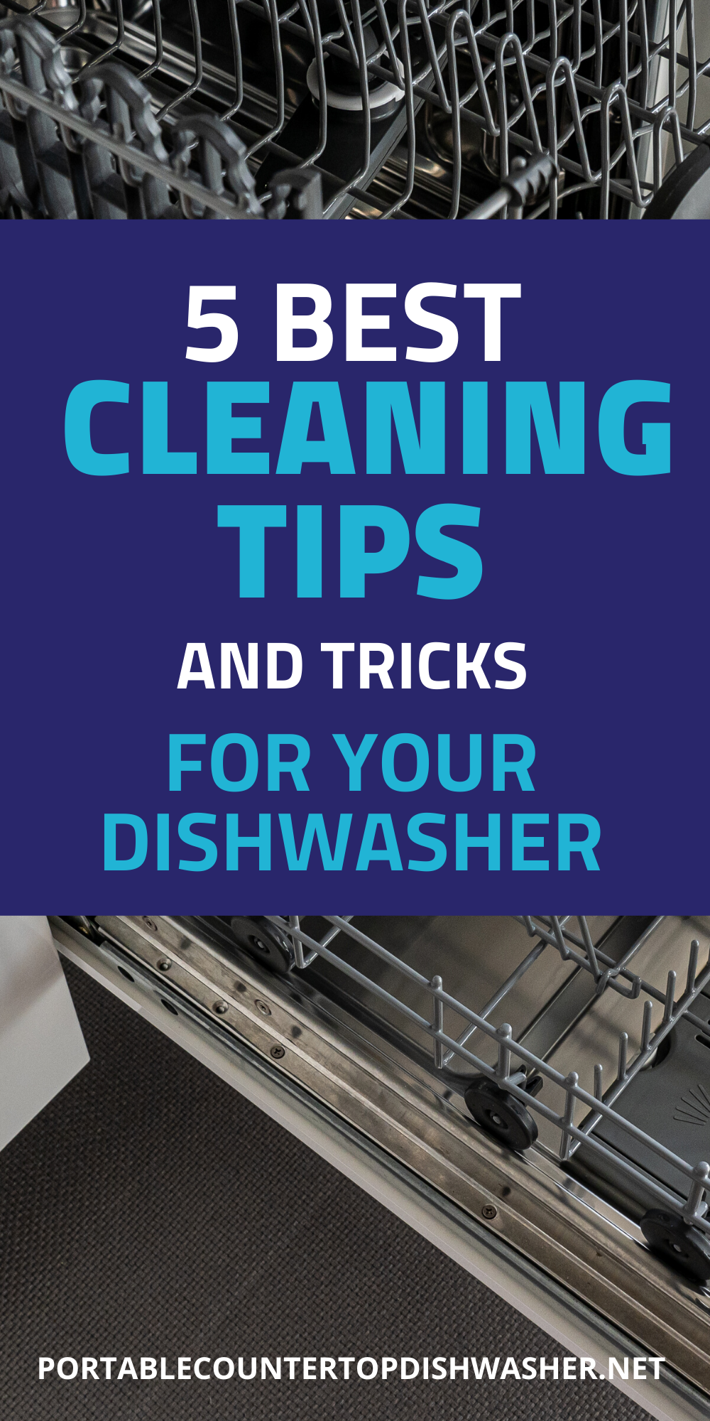5 Best Cleaning Tips And Tricks Dishwasher Diy In 2020 Cleaning Hacks Portable Dishwasher Countertop Dishwasher