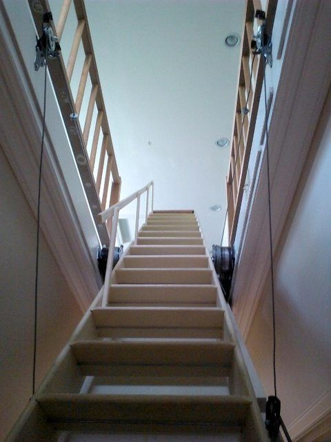 Merveilleux Attic Stairs Pulley System   Google Search
