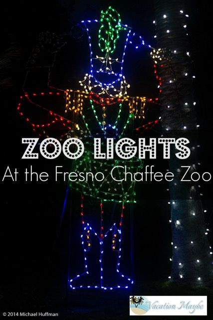 visit the fresno chaffee zoo to enjoy the holiday lights