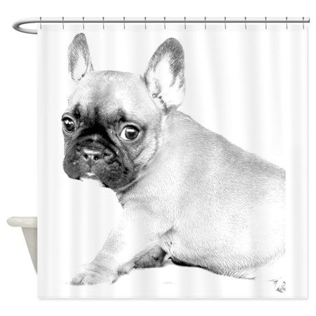 French Bulldog Puppy Shower Curtain By Ritmoboxerdesigns French