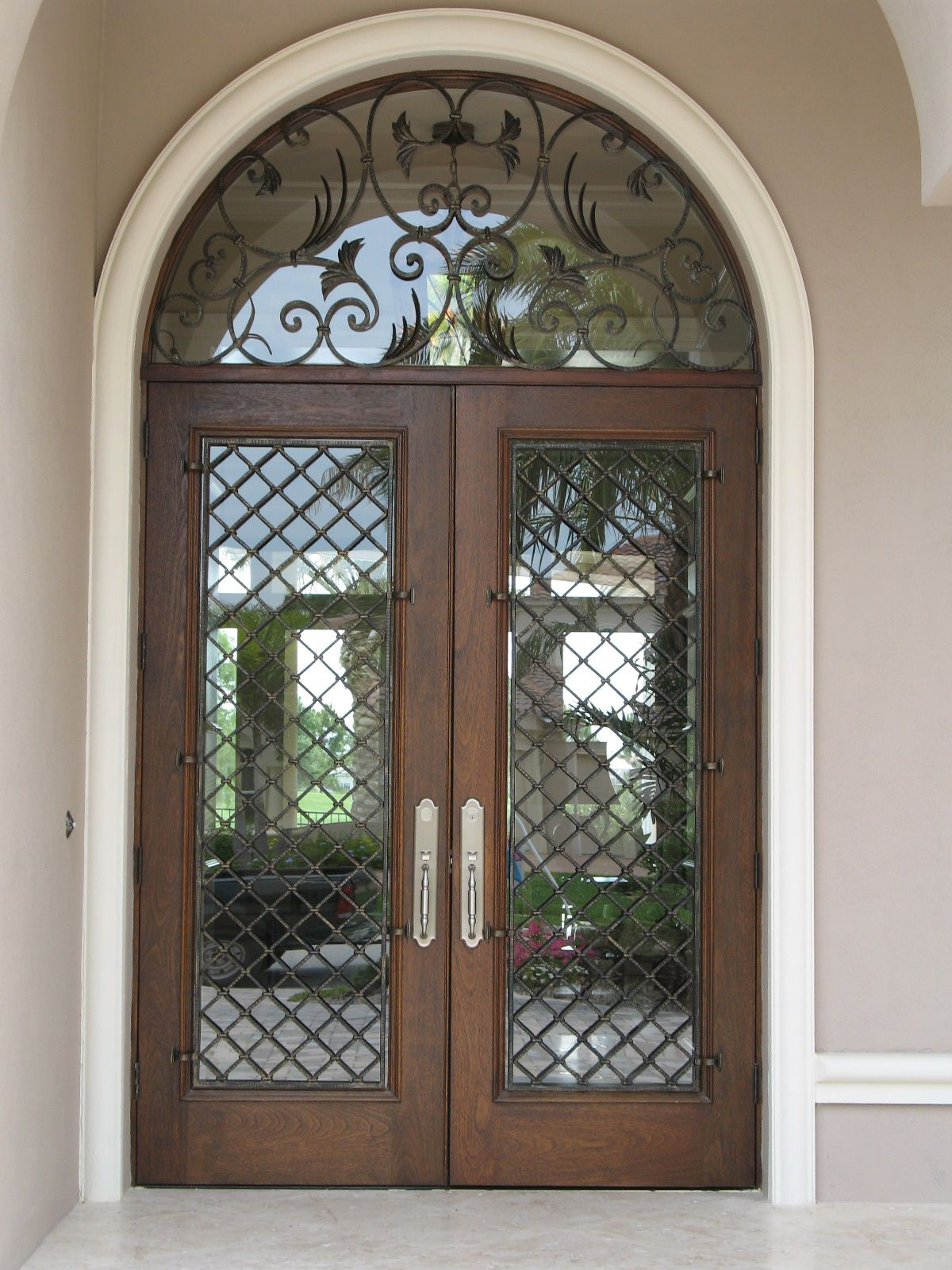 1600 #4C6A7F Wooden Doors Interior French Doors Entrance Doors Entry Gates Iron  pic Wood Wrought Iron Doors 43111200