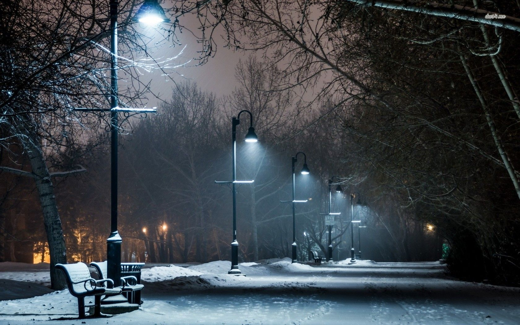 lamppost in the snowy park wallpaper | Photo box | Pinterest ... for Lamp Post At Night Snow  56mzq
