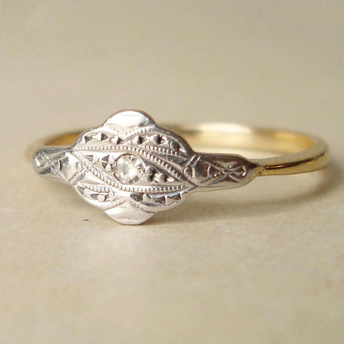 Antique Diamond Engagement Ring Edwardian Diamond 18k Gold
